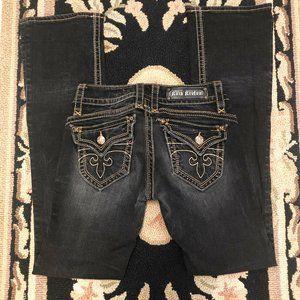 Rock Revival Gwen Boot Black Wash Jeans